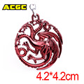Game of Thrones House Targaryen Anime Keychain A Song of Ice and Fire Metal Key Holder Alloy Keychains For Gift