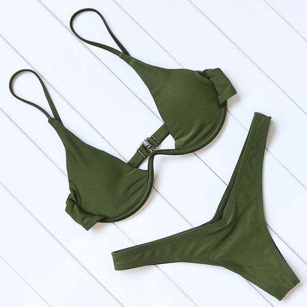 OMKAGI Brand Brazilian Bikini 2019 Swimsuit Swimwear Women Sexy Push Up Swimming Bathing Suit Beachwear Underwire Bikinis Set