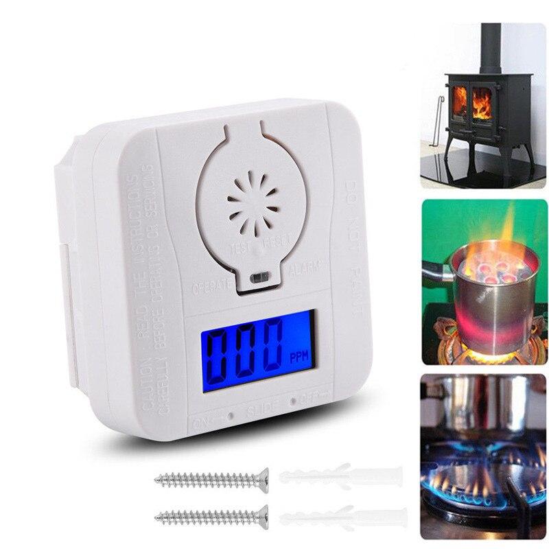 LCD Carbon Monoxide Detectors 85DB High Sensitive Gas Alarm Smoke Sensor For Kitchen Warning CO Poisoning Detector Home Security