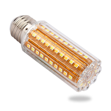 LED Corn Lights Lamp E27 E26 Base 3 Level Light Color Adjustable 12W 90LED Led Bulb Lampada Chandelier Candle Lighting