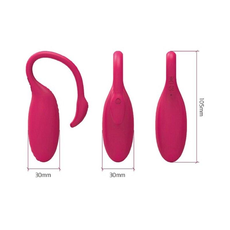 Nueva aplicación de Control remoto vibrador inteligente Bluetooth con estimulación de punto G juguetes sexuales para mujeres - 2