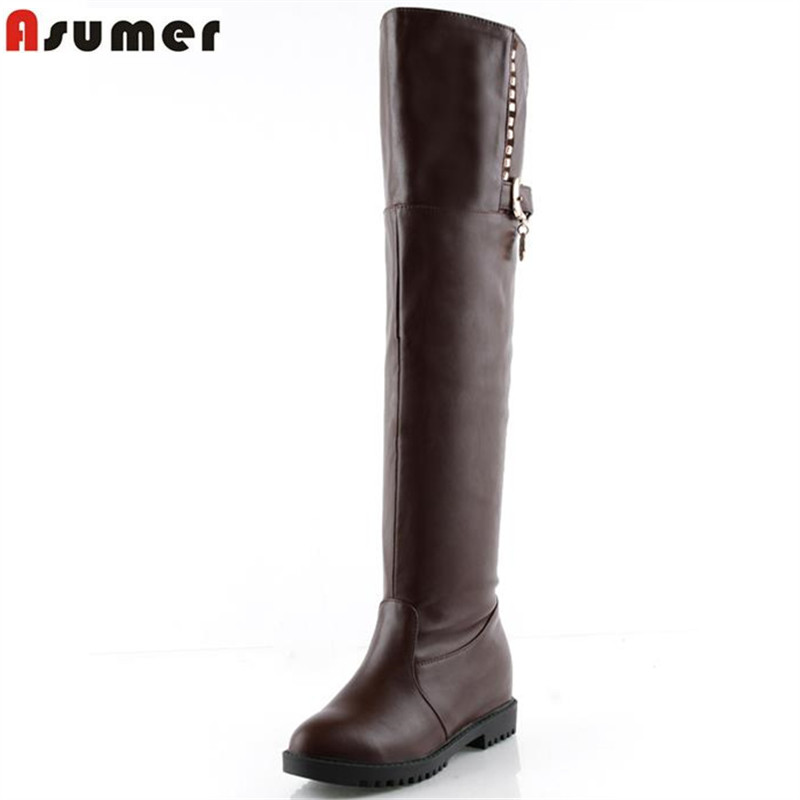 ФОТО Sexy elegant mid calf boots for women in autumn solid round toe slip-on sequined soft pu leather high quality women boots