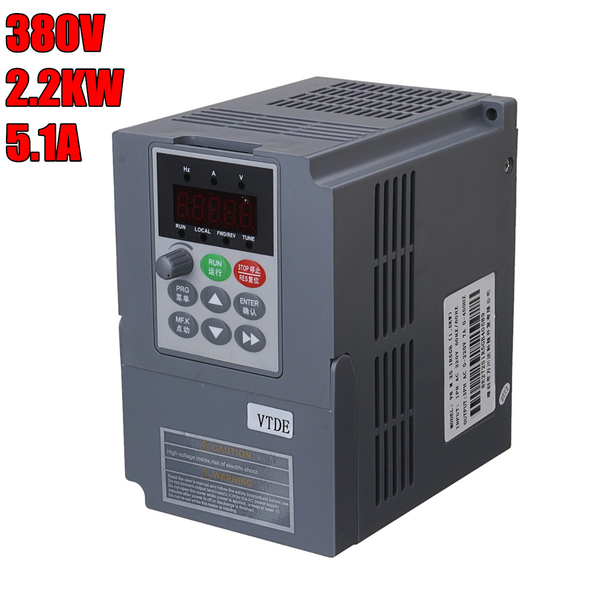 CNC Spindle motor speed control 380v 2.2kw VFD Variable Frequency Drive VFD 3PH Input 3PH frequency Drive inverter for motor new atv312hu75n4 vfd inverter input 3ph 380v 17a 7 5kw