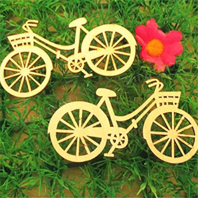 Online Shop 10pcs Wooden Bicycle Wood Craft For Rustic Themed