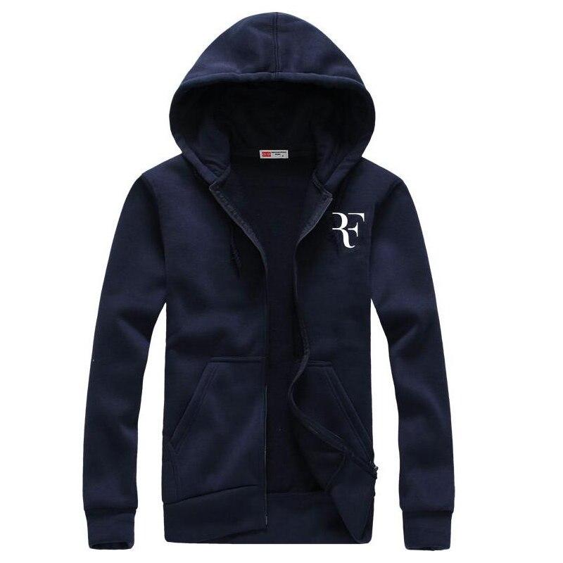 Style Roger Federer RF Print Hoodies Males Informal Hip Hop Lengthy Sleeve Mens zipper Hoodie Sweatshirts Man Hoody Clothes hoodie clothes, males zipper hoodie, trend hoodie males,Low cost hoodie...