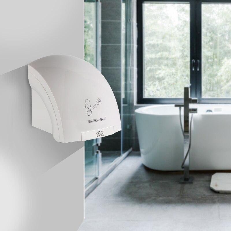 Completamente automatico Hotel ad alta velocità Doppia faccia Jet essiccatore della Mano Mano asciuga bagno Che Soffia del telefono mobile A Mano asciugatrice