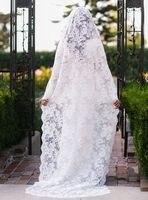 2017 White Ivory luxury Lace Wedding Veils Classical Lace Bridal Veil Wedding Accessories Bride Mantilla Wedding Veil