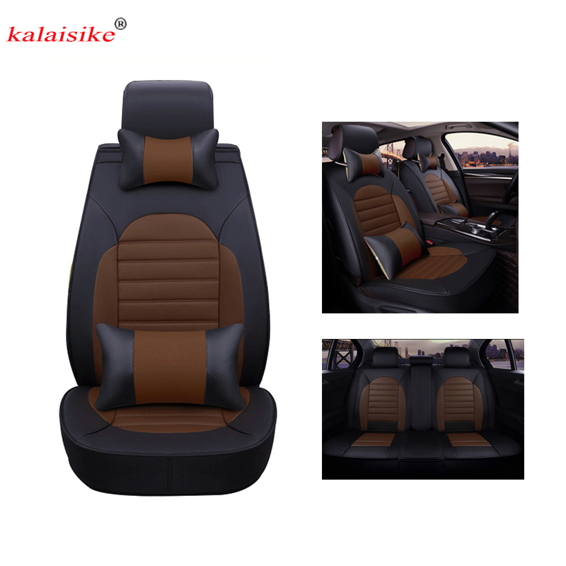 Kalaisike leather Universal Car Seat covers for Renault all models logan scenic fluence duster megane captur laguna kadjar tpzltwi 3d car sticker for renault megane 2 3 duster logan clio captur laguna 2 1 sandero fluence scenic trafic kangoo kadjar