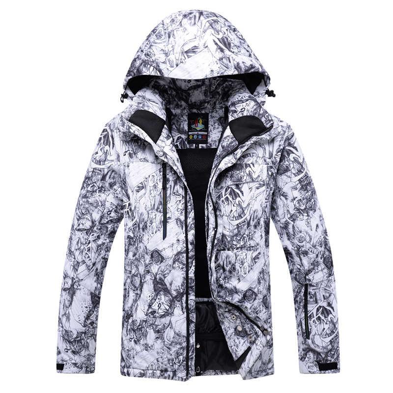 10K hohe qualität ski anzug herren outdoor furnier doppel bord ski kleidung wind wasserdichte warme verdickung neue ski anzug