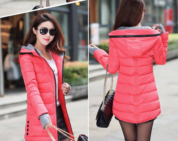 HTB1g oQs9tYBeNjSspkq6zU8VXab 2019 women winter hooded warm coat plus size candy color cotton padded jacket female long parka womens wadded jaqueta feminina