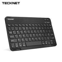 цена на TeckNet 7mm Wireless Bluetooth Keyboard Illuminated Backlit Rechargeable UK Layout Keyboard for iOS Windows Android 3.0 Above OS