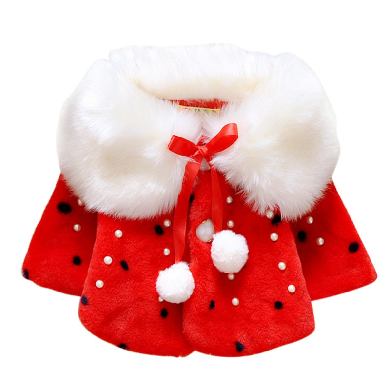 Baby Girls Infant Cotton Winter Warm Coat Cloak Jacket Thick Warm Clothes High Quality