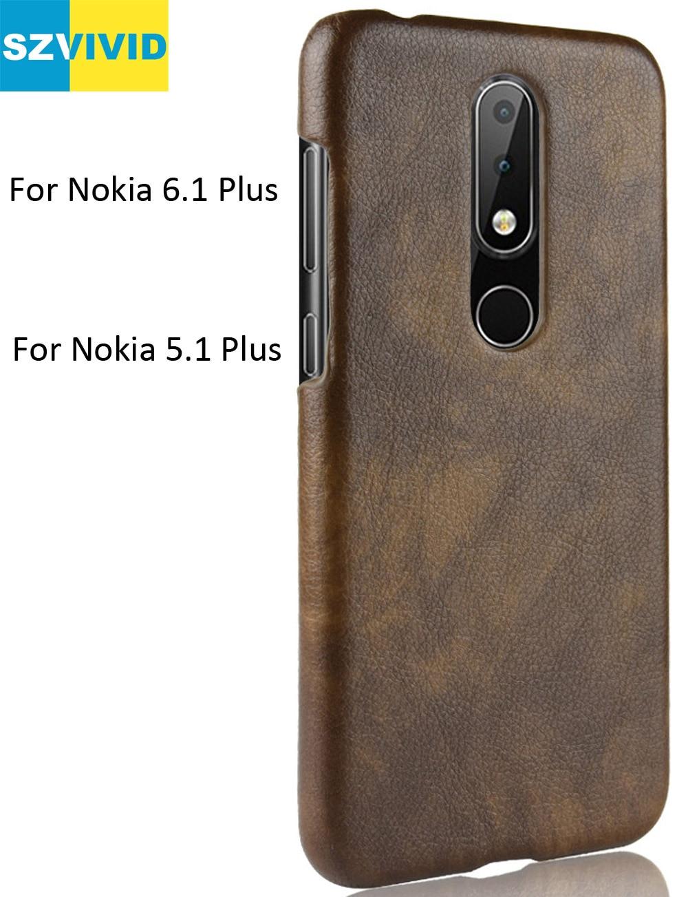 Retro Vintage Cover Case For Nokia 6.1 Plus PU Leather