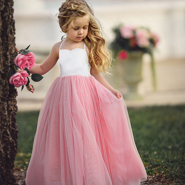 1359ef74ac2c3 US $11.57 |Retail Drop Shipping Kids Dance Wear Flower Girl Dresses Elegant  Girls Wedding Wear Girls Party Long Dress Girls Tutu Dress CQ06-in Dresses  ...