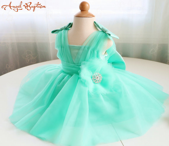 6feb18e97 Infant Glitz princess Pageant Dress mint green Knee length Birthday ...
