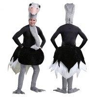 Страус костюм для взрослых забавные животные Карнавальный костюм для мужчин Хэллоуин костюмы для мужчин Карнавальная одежда смешно Коспле