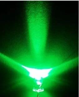 5MM LED Light-Emitting Diodes White Glow Green Light Highlighted Luminous Tube