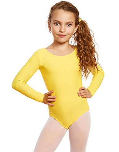 LZCMsoft Girls Long Sleeve Leotards Ballet Dance Gymnastics Unitards Short Toddler Black Dancewear Pink Kids Dance Tops