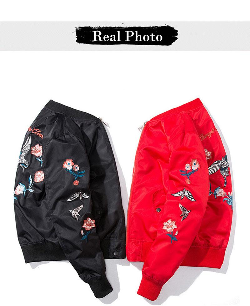 Aolamegs Bomber Jacket Japanese Embroidery Thin Men's Jacket Couple Hip Hop Fashion Outwear Autumn Men Coat Baseball Jackets New (16)