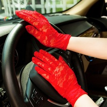 Woman Driving White Gloves Summer Sunscreen Embroidery Rave Guantes Mujer Gym The New Listing Factory