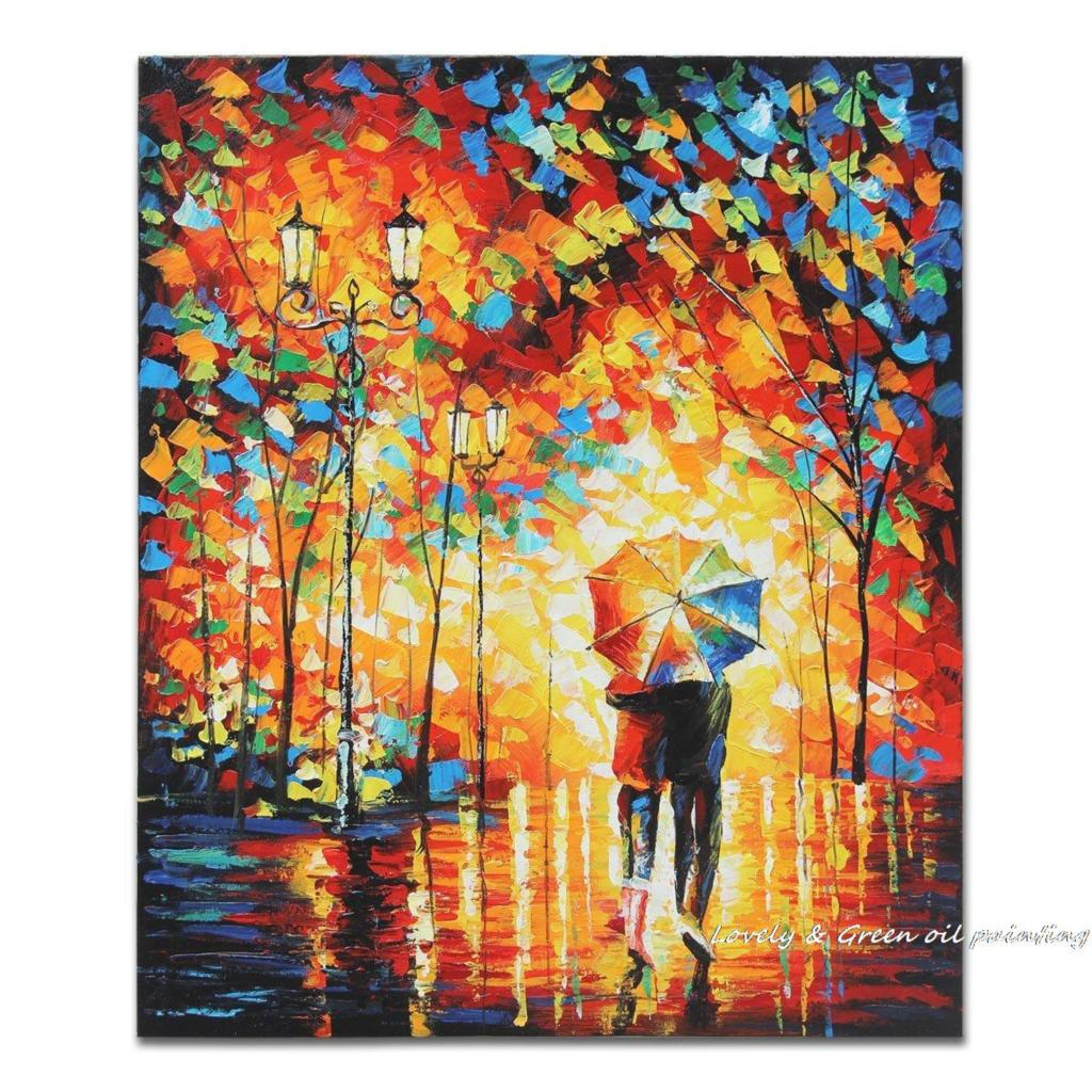 Four Squares Abstract Art Oil Palette Knife