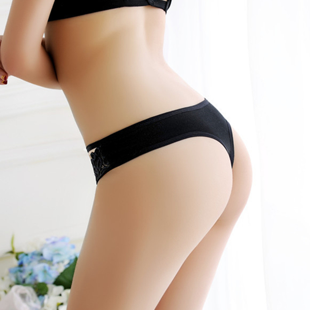 New Lace Women Sexy Panties Seamless G String Transparent Lace Panties Thong Sexy Women Underwear Thongs With Bow