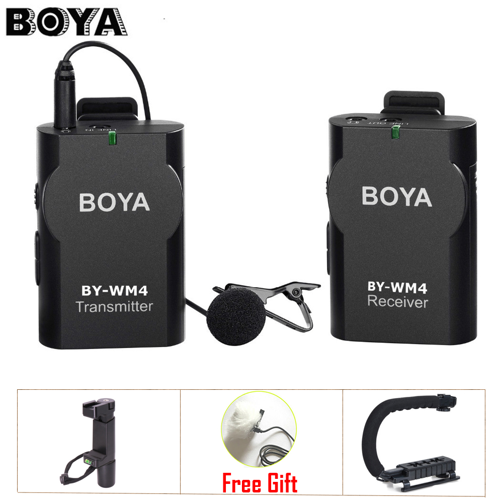 buy boya by wm4 professional wireless microphone system lavalier lapel mic for. Black Bedroom Furniture Sets. Home Design Ideas
