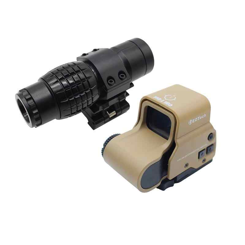 Военный страйкбол тактический 3x оптический прицел с увеличением увеличительное стекло с откидным креплением боковой Пикатинни для охотничьего Игрушечного Пистолета