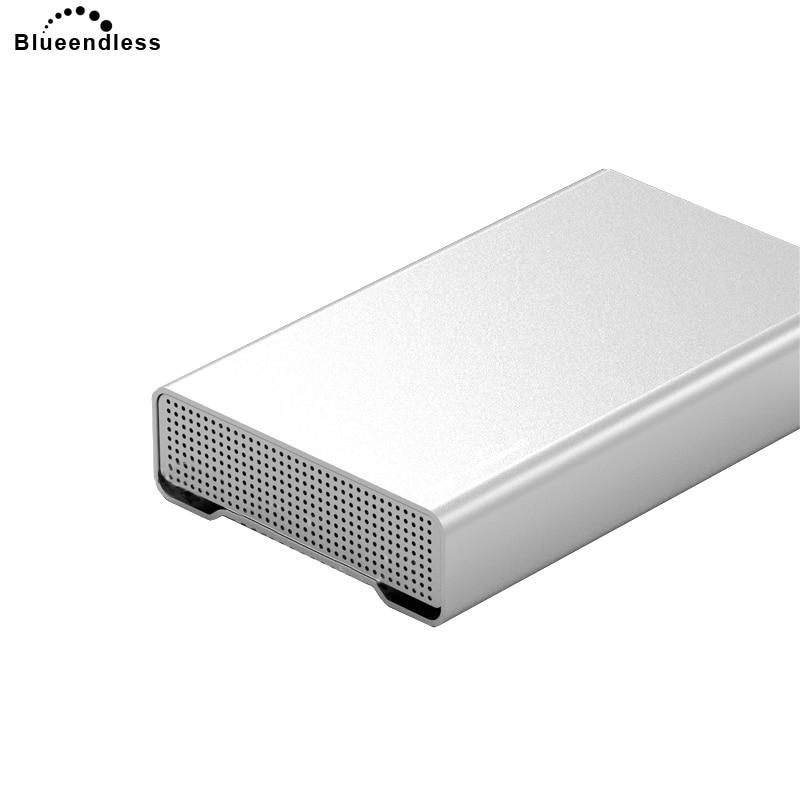 Blueendless Full Metal Hdd Enclosure 3.5 Inch External USB 3.0 Cover Case Hard Drive Cases Aluminum Sata Hard Disc Laptop Caddys