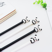 цены 2pcs/lot kawaii Students stationery Cartoon panda neutral pen needle 0.5 mm School office Neutral pen stationery gifts