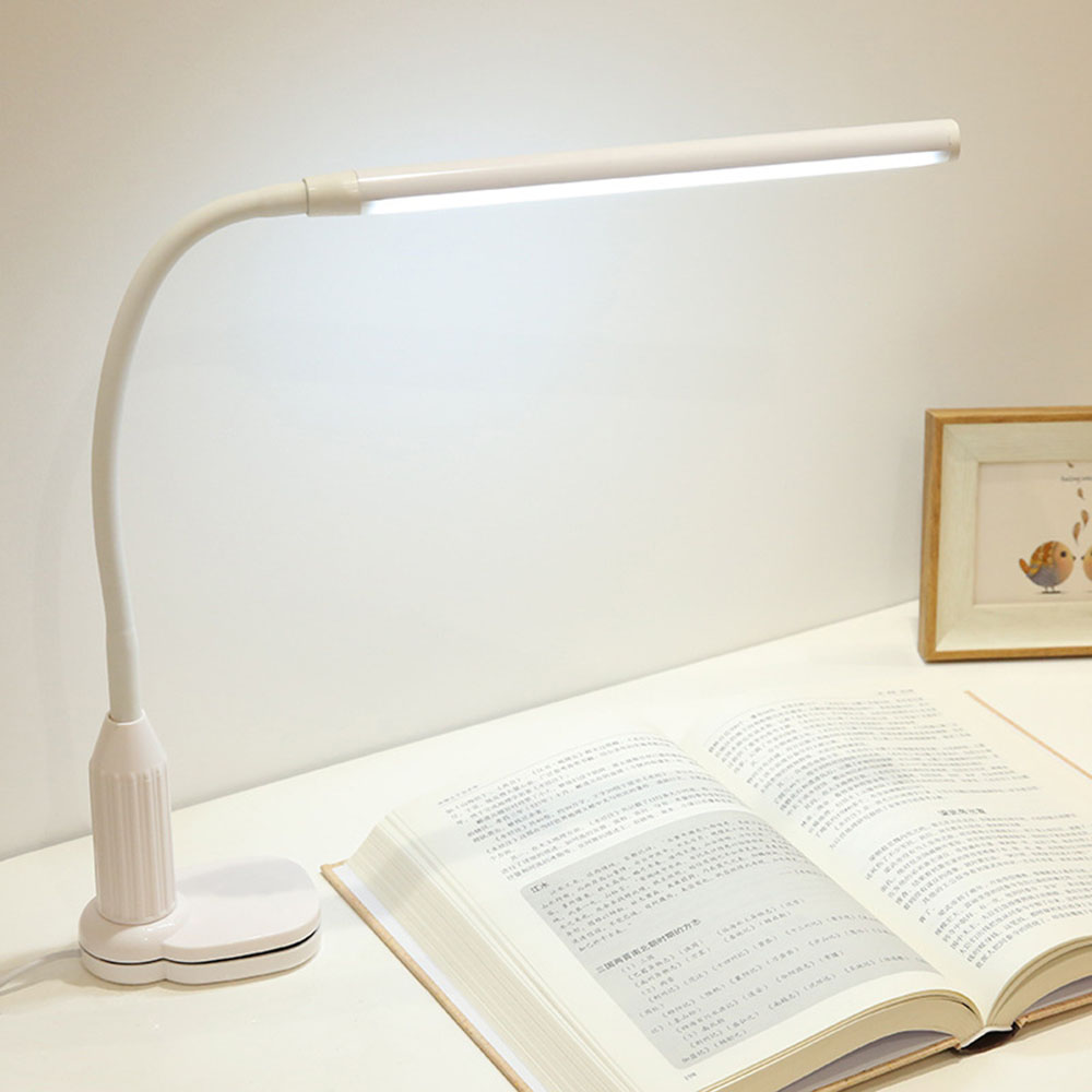 GemäßIgt Weiß Schreibtisch Lampe Led Weiß Kunststoff Griff Usb Touch Licht 5 V Zeitgenössische Büro Touch Tisch Lampen Luminarias Mesa Schreibtischlampen