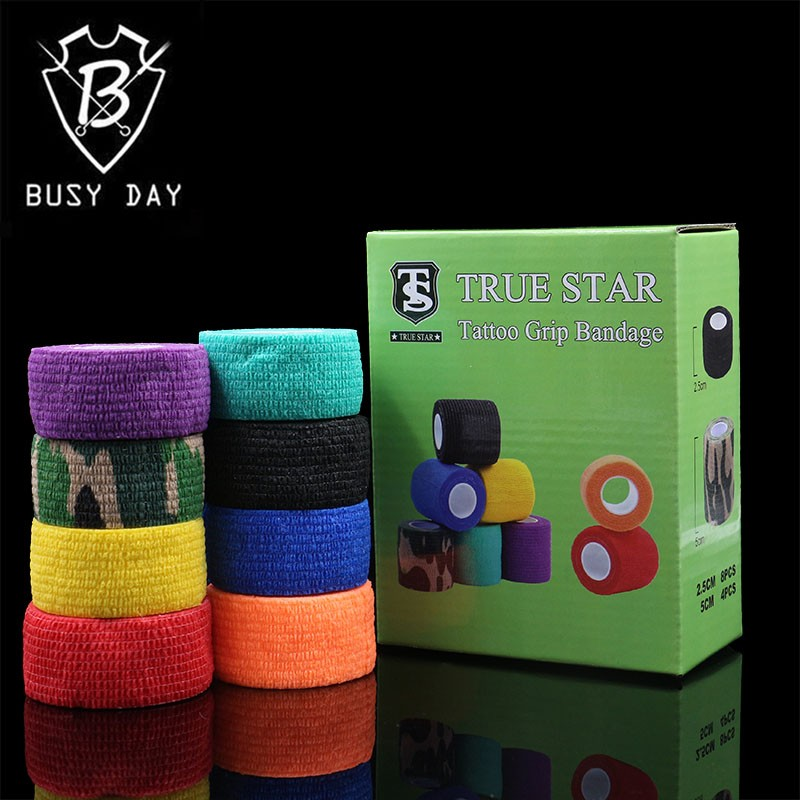 8Pcs Tattoo Grips Cover 8 Colors 25mm Bandage Grip Cover Tattoo Accessories For Tattoo Grip Tubes For Free Shipping 1