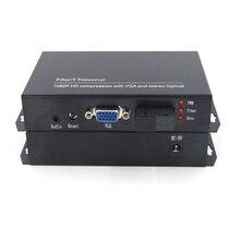 Высокое качество VGA Extender оптического волокна преобразователи с стерео 3.5 мм аудио 1080 P, sc оптический порт, одномодовый волокна до 20 км