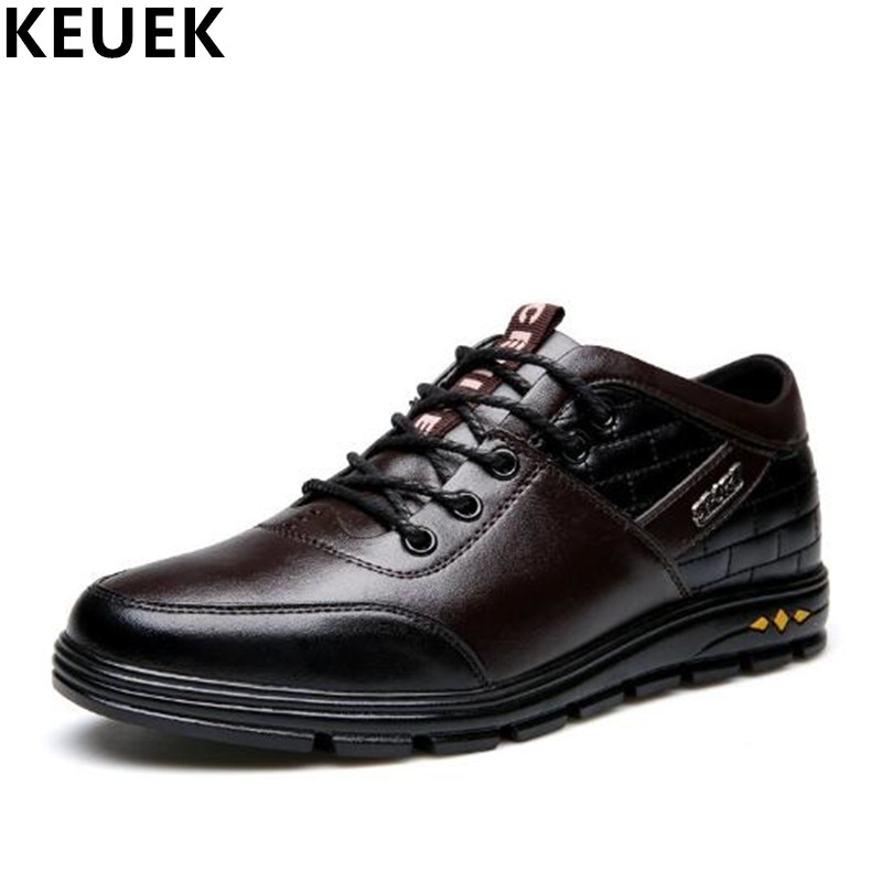 Spring Fashion Height Increasing Men shoes Breathable Male Casual leather shoes Flats Lace-Up Loafers High quality Sneakers 3A