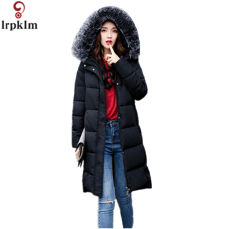 2017 New Winter Fashion Cotton Coat Female Slim Warm Hooded Parkas Female Overcoat High Quality Women Cotton Padded Jacket LZ308 new mens warm long coats lady cotton warm jacket padded coat hooded parkas coat winter top quality overcoat green black size 3xl