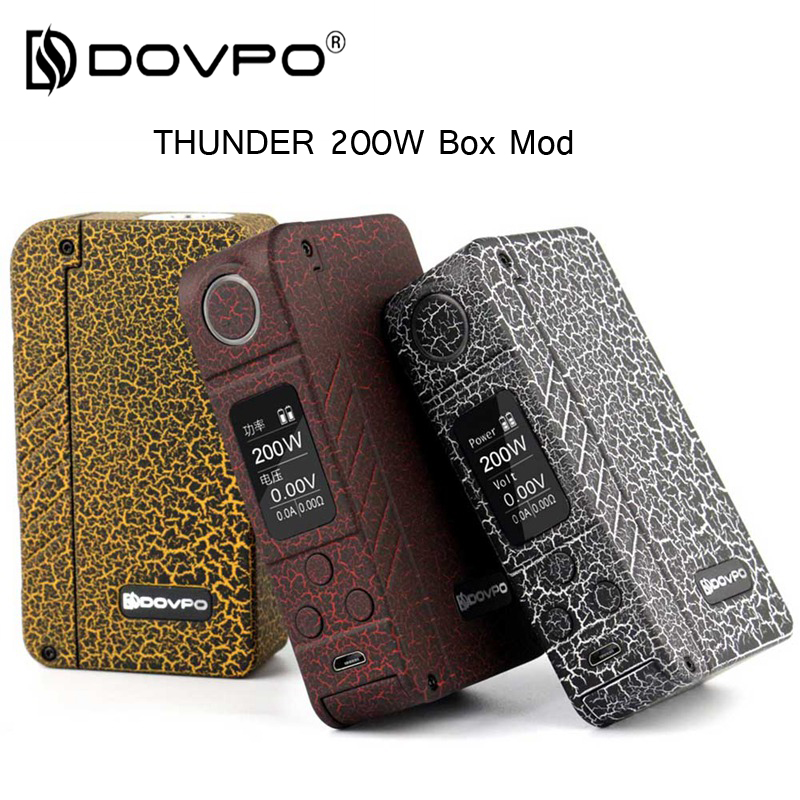Original DOVPO Thunder 200W Electronic cigarette Box mod TC 18650 vape Mod With USB Cable Better than istick pico