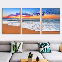 LZN Nordic Beach Poster Cuadros Decoracion Wall Art Canvas Painting Posters And Prints Art Wall Pictures For living Room
