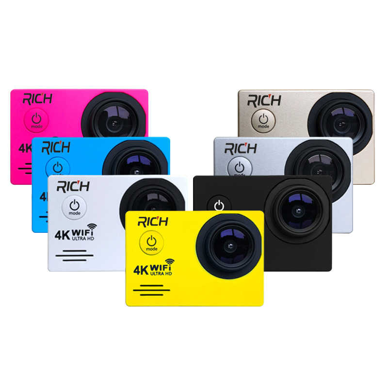 Экшн-камера Novatek96655 wifi HD 1080 p 30Fps шлем голова видео go камера на велосипед pro влагозащищенная 30 м Спортивная камера
