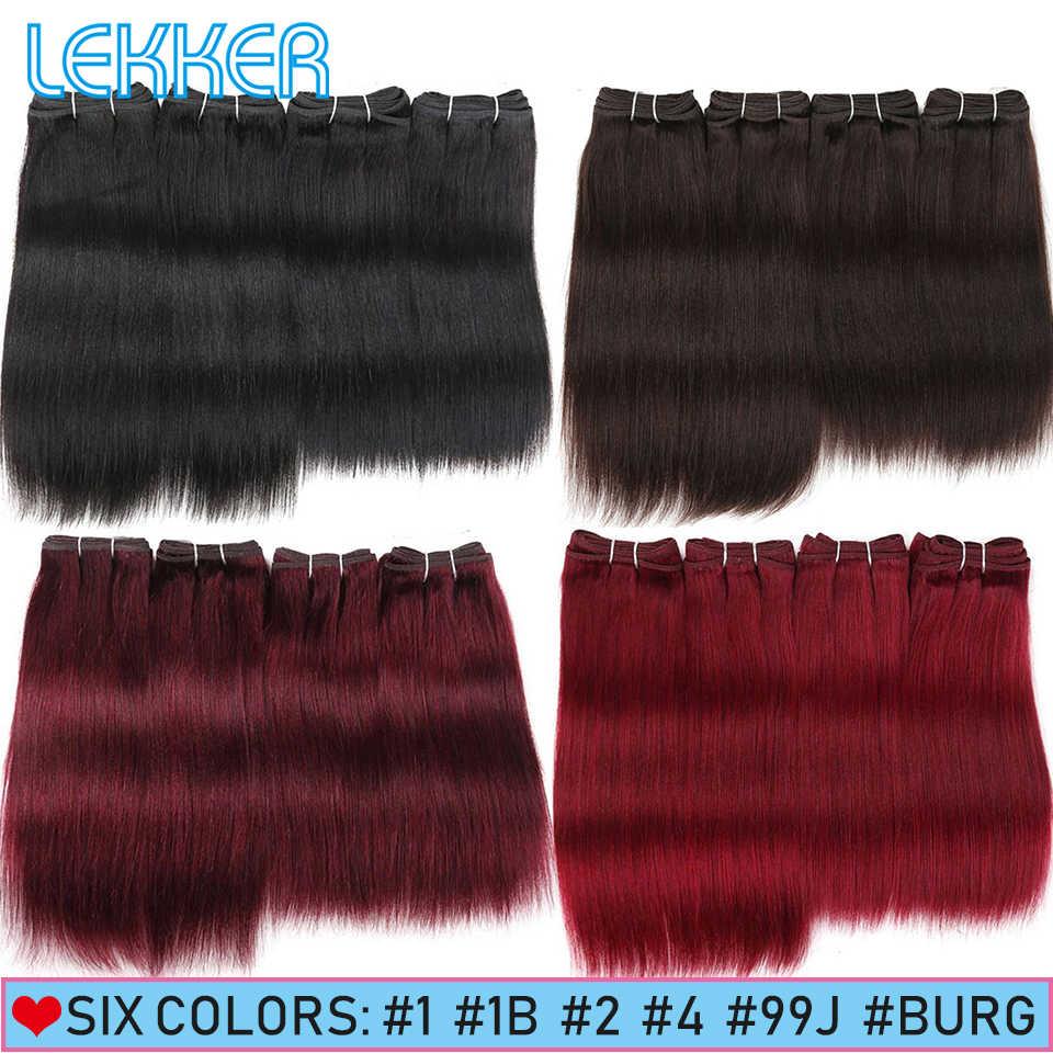 Lekker Haar Bundles Brazillian Yaki Gerade Menschliches Haar Bundles 4 Bundles Deal 190G Pro Packung Natürliche Schwarz Schönheit Salon