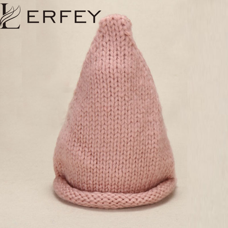 LERFEY Women Autumn Winter Warm Hat Knitted Candy Color Skullies Beanies Casual Girls Caps New Hats Female HeadWear Knit Cap toyouth skullies beanies 2017 autumn women letters jacquard warm thicken knitted hat female