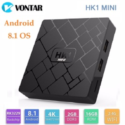 TV Box Android 8.1 2GB 16GB Rockchip RK3229 Quad Core 2.4G Wifi H.265 4K HD Google Player Smart Box HK1mini HK1 mini