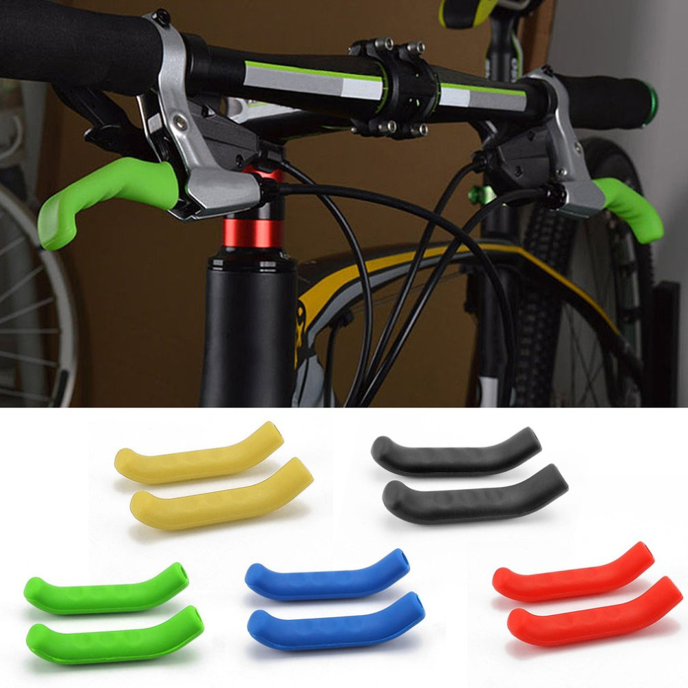 1 Pair Silicone Gel Universal Type <font><b>Brake</b></font> Handle Bar <font><b>Grip</b></font> Tool <font><b>Lever</b></font> Protection Cover Protector Case Shell for Mountain Road <font><b>Bike</b></font> image