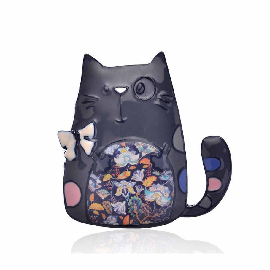 Cute Cat Spilli E Spille Dello Smalto di Modo Spille Vintage Zaino Accessori del Panno Delle Ragazze Delle Signore Classic Monili di Fascino del Regalo 2019