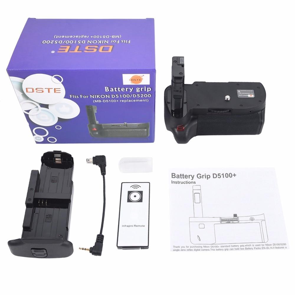 ФОТО DSTE Multi-Power Vertical Battery Grip + Remote Control For Nikon D5100 D5200 Digital SLR Camera
