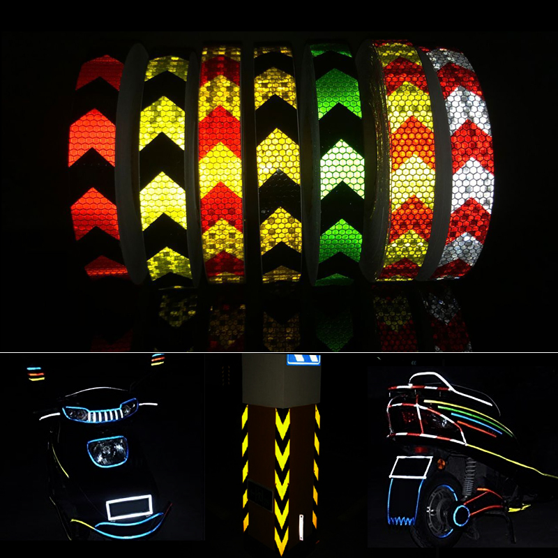 Купить с кэшбэком 25mmx50m Reflective tape stickers car-styling Self Adhesive Warning Tape