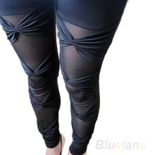 Bluelans Women's Vintage Sexy Ripped Stretch Legging Pants Black Leggings