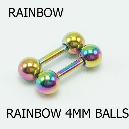 4mm rainbow 2pcs