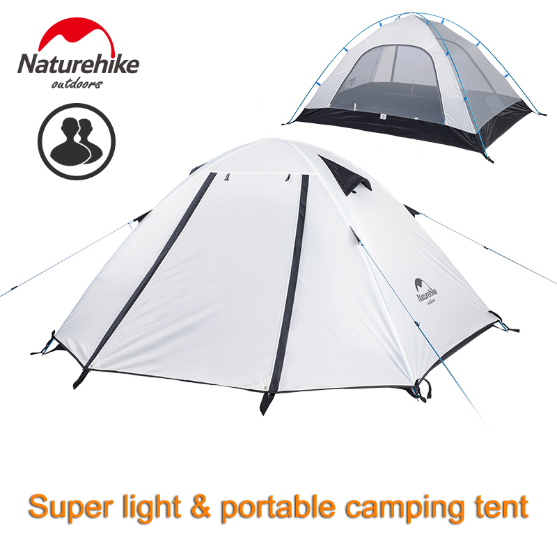 Naturehike Portable Outdoor Camping Tent 2/3/4 Person Backpacking Hiking Waterproof 5000mm Double Layer Hiking Travel Fishing Te yingtouman outdoor 2 person waterproof double layer tent fiberglass rod portable ultralight camping hikingtents