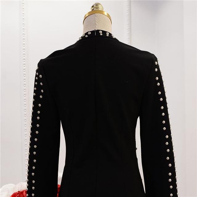 Metal beaded rivet dress
