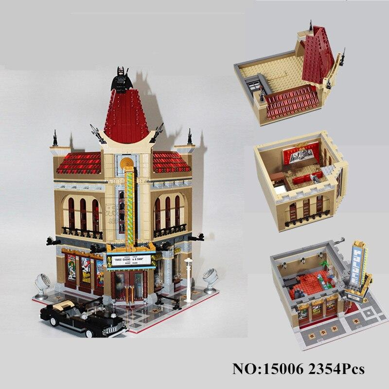 H & HXY EN STOCK 15006 2354 pcs Palais Cinéma Modèle Building Blocks set Briques LEPIN BRICOLAGE Jouets Compatible avec 10232 Enfants Cadeau